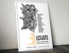 Ateliers ouverts 2014 // Affiche